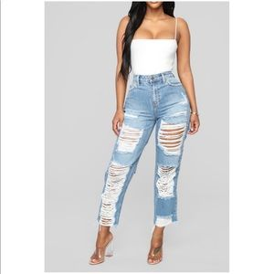 Beautiful High waisted ripped jeans